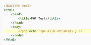 PHP Hello World